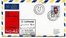 FFC 1971 Lufthansa First Flight LH 509 Casablanca Munchen Maroc