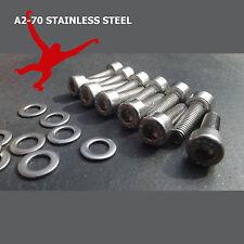 12 x boulons & rondelles acier inoxydable pour vélo / cycle bouteille d'eau cages. M5 socket cap
