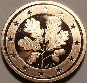 Cameo Proof Germany 2004-G Five Euro Cents~Karlsruhe Mint~cameo