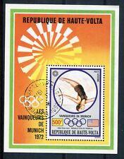 HAUTE-VOLTA, 1973, BLOC 5B, SPORT, JEUX OLYMPYQUES MUNICH, PLONGEON, oblitéré