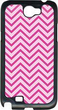 Pink Chevron Design on Samsung Galaxy Note II 2 Hard Case Cover