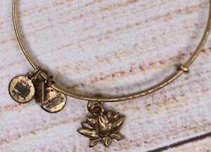 Alex and Ani Lotus Blossom Charm Gold Bracelet