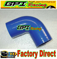 "Silicone 90 degree Elbow Hose Pipe 2"" inch 51mm turbo intercooler BlU radiator*"