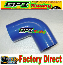 "Silicone 90 degree Elbow Hose Pipe 2"" inch 51mm turbo intercooler BlUE"