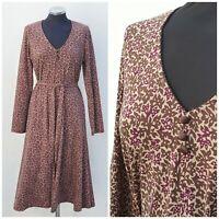 Laura Ashley Dress Floral Paisley Print - Maxi-Long sleeves - Sz UK 14