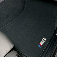 BMW M6 Design Black Carpet Floor Mats w/Pad 2005-2010 E63 M6 Coupe 82110416739