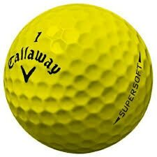 100 Callaway Supersoft Yellow AAA Used Golf Balls