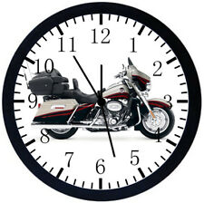 American Motorcycle Black Frame Wall Clock Nice For Decor or Gifts W385