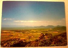 1970's TRINITY BAY, CAIRNS QLD PANORAMIC AERIAL VIEW POSTCARD VGC  UNUSED