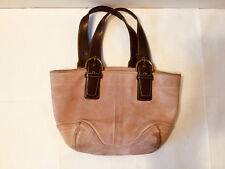 COACH Tote Bag Pink Cowhide Leather Authentic with Tags Fast Shipping Worldwide!