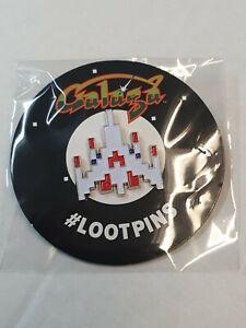 Loot Crate Exclusive Atari Galaga Pin Badge NEW