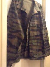 Mens Army Military Green Camo Camouflage BDU Cotton Shirt Jacket XXLReg