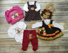 7 pc Baby Girl Thanksgiving Outfit Size 3 months EXCELLENT CONDITION!
