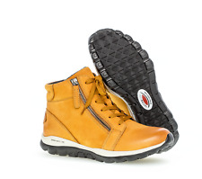 Gabor Rollingsoft sensitive curry gelb Damen Schnürstiefelette Boots Gr 38 - NEU