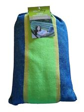 Smart Living Brazilian Hammock In A Bag Blue And Green Strip Max Weight 450lbs