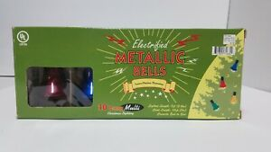 Metallic Christmas Bells 10 Lamp String Light Set Target 2003 Holiday Decoration