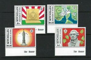 Seychelles 1978, Bicentenary of Victoria sg437/40 MNH