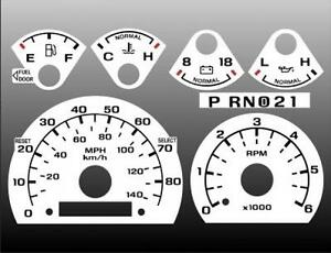 1992-1996 Ford Truck Dash Instrument Cluster White Face Gauges 92-96