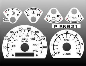 1992-1996 Ford Truck Dash Instrument Cluster White Face Gauges 92-96