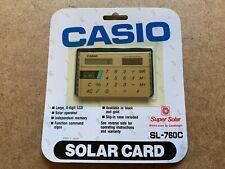 Rare Vintage Casio Sl 760c Film Card Solar Card Calculator New Nos Japan