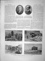 Original Old Antique Print 1902 Lord Currie Bowen Cyprus Troodos Nicosia 20th