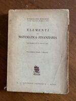 ELEMENTI DI MATEMATICA FINANZIARIA ESERCIZI PRONTUARI Boggio Perrella Roma 1942