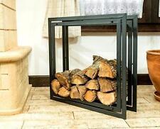 étagère en bois de cheminée Square Support 70 cm Panier à pour