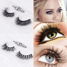 1Pair Real 3D Mink Natural Makeup Eye Lashes Soft Long Thick False Eyelash