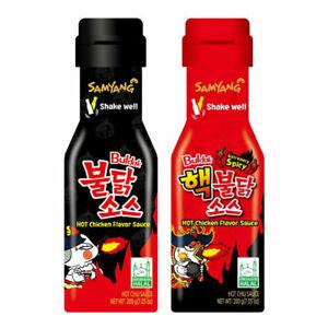 Samyang Buldak Hot Chicken Flavour Sauce 200g x 2 Bottles (Red & Black)