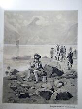 """c71-6 Gravure contes et récits d'Alsace - """"tambour major de Nassau"""" Tanconville"""