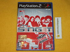 HIGH SCHOOL MUSICAL 3 SENIOR YEAR SING IT!   PS2 SONY PLAYSTATION 2 ITALIA NUOVO