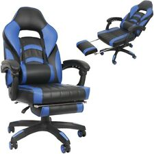 Gaming Stuhl Schwarz Bürostuhl Racing Schreibtischstuhl Chefsessel Drehstuhl 💺