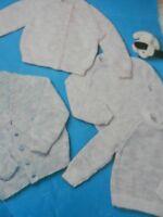 "Baby Childs Cardigans Round V Neck and Jumper 18-22"" DK Vintage Knitting Pattern"