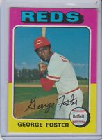 1975 Topps George Foster Cincinnati Reds #87 Baseball Card