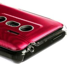 For Sprint HTC EVO 3D Protector HARD Case Snap Phone Cover Red Cosmo