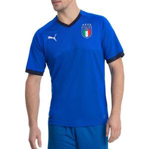 PUMA Italy Mens Blue FIGC Italie Replica Jersey Home Football Shirt 2018