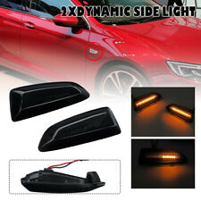 2x Dynamic LED Side Indicator Repeater Light For Opel Vauxhall Astra J Insignia