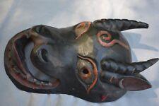 """Orig $699 Nepal/Tibet Ibex Mask, Hide 15"""" Early 1900S prov"""