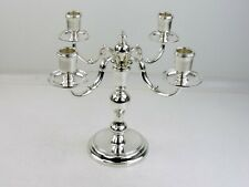 Handsome SILVER 4-Light CANDELABRUM, London 1955 Vander TOP QUALITY candlestick