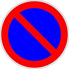 Autocollant sticker camion porte portail garage stationnement interdit panneau