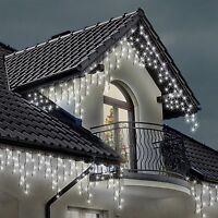 ICICLE Lights 220 LED Bright White Indoor and Outdoor Snowing Christmas Lights