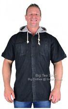 Big Mens Black  Kam Luiz Hooded Shirt 2xl 3xl 4xl 5xl 6xl 7xl 8xl