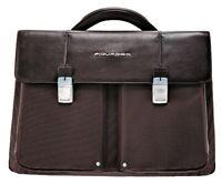 Borsa Cartella Ventiquattrore Porta Pc Tablet Uomo Pelle Piquadro 42X30X14 Cm...
