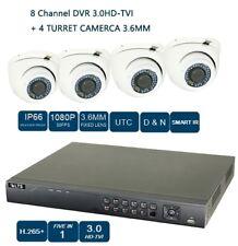 8CH HD-TVI DVR +1080P NIGHT VISION 3.6MM 4PC TURRET CAMERA  CCTV Security