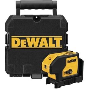 DEWALT DW083K Self Leveling 3-Beam Dot Plumb & Level Laser Pointer w/Case *NEW*