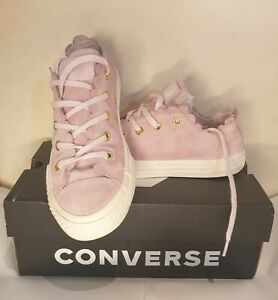 converse suede pink  size 1