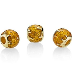 Pandora SHINE Charm Bead 767120EN158 Golden Honey S925 ALE