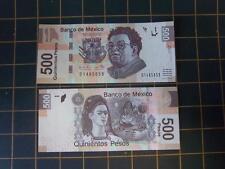 BANCO DE MEXICO ~ 500 PESOS~DIEGO RIVERA~TENTH EMISSION (NEW FAMILY) VERY SCARCE