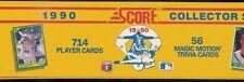 1990 SCORE BASEBALL COMPLETE FACTORY SET 714 CARDS 1-704 + 10 BONUS CARDS