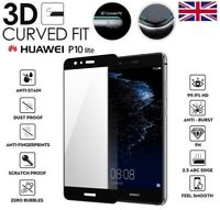 For Huawei P10 Lite Genuine Full 3D Tempered Glass 9H Screen Protector Cover